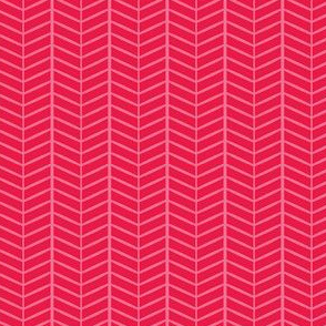 Watermelon Herringbone Chevron
