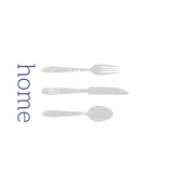 Home + Silverware Tea Towel