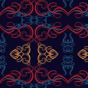 Multi-color Calligraphics