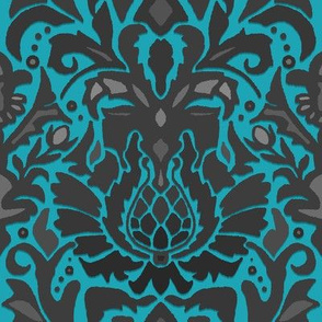 Aya damask blue