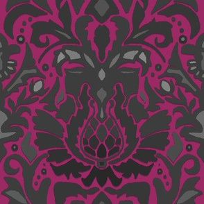Aya damask fuschia