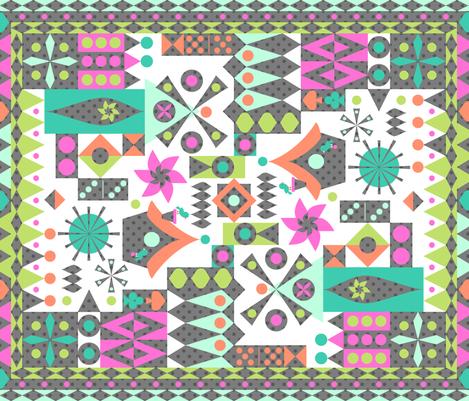 Dominos  fabric by mktextile on Spoonflower - custom fabric