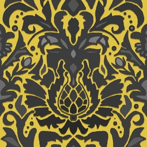 Aya damask gold