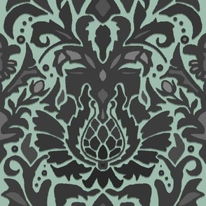 Aya damask mint