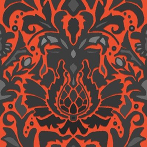 Aya damask orange