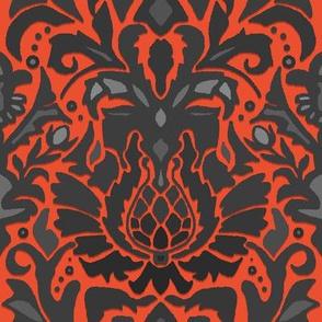 Aya damask orange