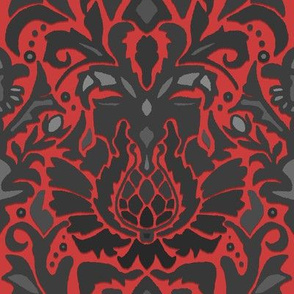 Aya damask red