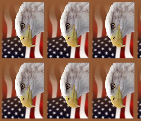 bald eagle - placemats fabric by stofftoy on Spoonflower - custom fabric