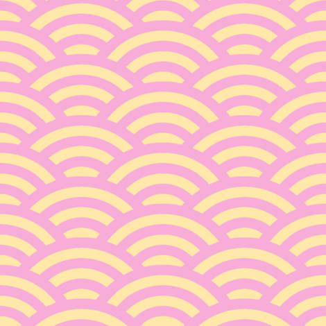 pink and peach scallop fabric by weavingmajor on Spoonflower - custom fabric