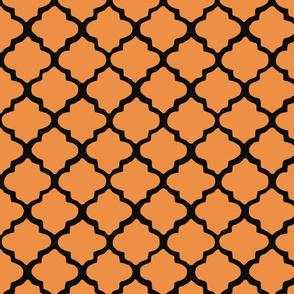 Orange & Black Moroccan Tile Pattern