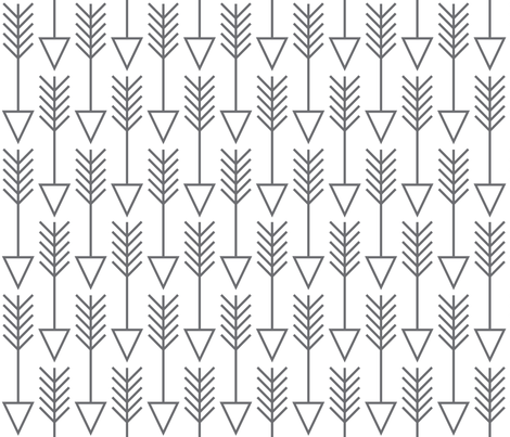 arrows on white fabric by lilcubby on Spoonflower - custom fabric