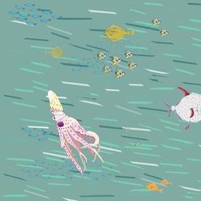 sea life in verdegris