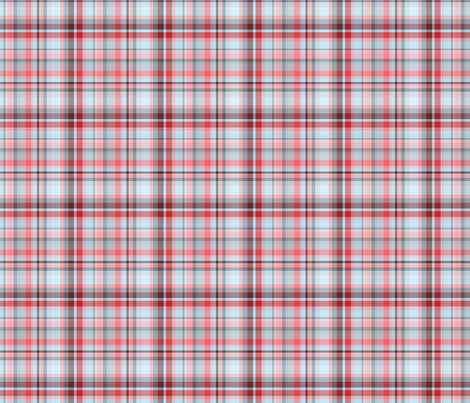 Blue, Pink, & Grey Plaid - Love Tornado Coordinating fabric by thecraftydragon on Spoonflower - custom fabric