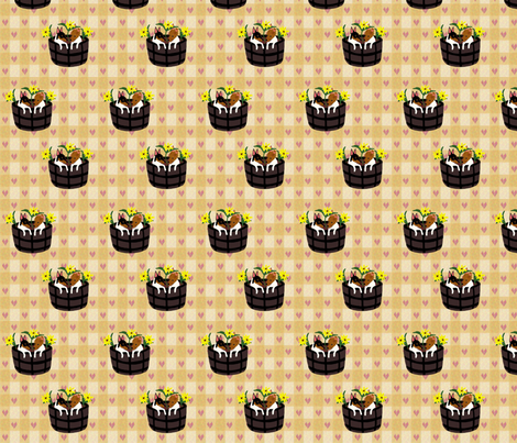 Toy Fox Terrier Puppies in the Flowers fabric by country_pup on Spoonflower - custom fabric