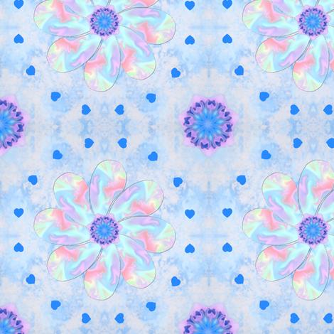 Pastel_Swirl_Flower_Blue fabric by karwilbedesigns on Spoonflower - custom fabric