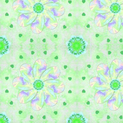 Pastel_Swirl_Flower_Green fabric by karwilbedesigns on Spoonflower - custom fabric