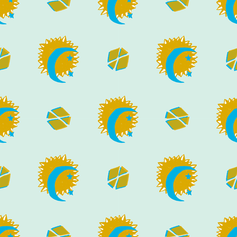 Sun and Moon fabric by shannon_buck on Spoonflower - custom fabric