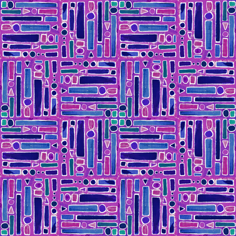 Bejeweled_Blues_and_purples-teal_2_ fabric by lisa_eaton on Spoonflower - custom fabric
