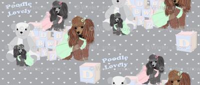 Poodles - bears & blocks on hearts