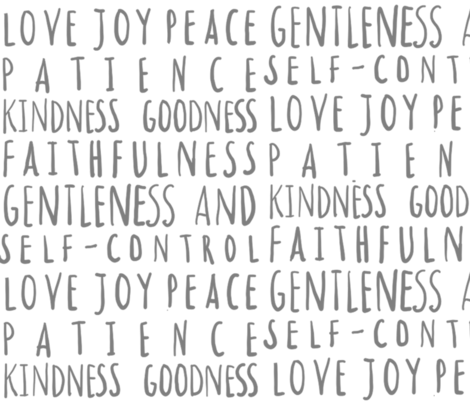 love joy peace fabric by nanalisa on Spoonflower - custom fabric