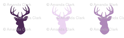 Deer - purple - moonshade