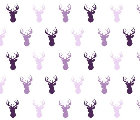 Deer - purple - moonshade fabric by sugarpinedesign on Spoonflower - custom fabric