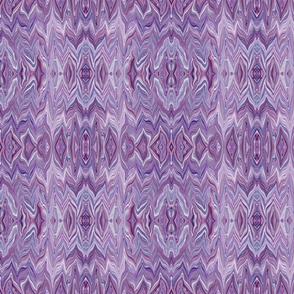 Dreamscape 2 - Reflected Marble Chevrons in  Analagous Colors, Purple, Maroon, Mauve, small scale