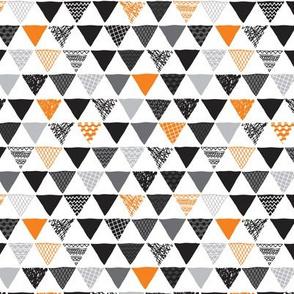 Geometric tribal aztec triangle orange tangerine modern patterns SMALL
