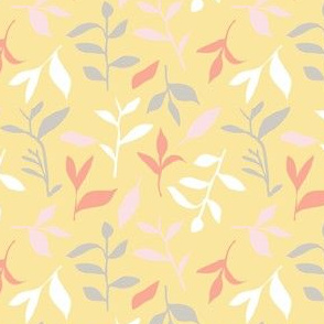 Tea Leaf Scatter (pale yellow)