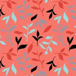 Tea Leaf Scatter (coral)