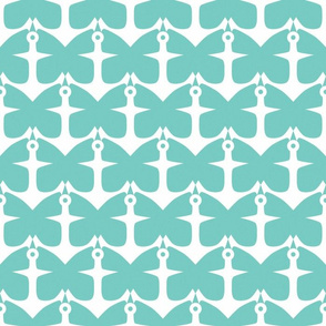 Anchors and Butterflies in Teal