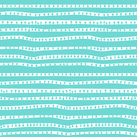 pod stripes in glacier + white fabric by kheckart on Spoonflower - custom fabric