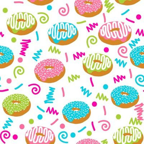 donuts memphis 80s 90s rad bright summer cute food donuts doughnuts