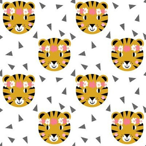 tiger flowers floral crown cute flowers tigers fabric for girls nursery sweet flowers
