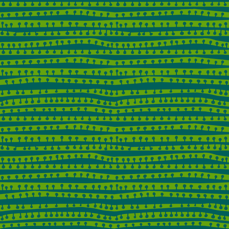 crowded pod stripes in deep pine + asparagus fabric by kheckart on Spoonflower - custom fabric