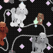 Poodles - & Gems Large Print