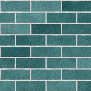 Teal Brick Wall