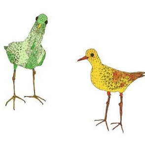 green & yellow birds