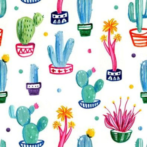 Cactus and dots