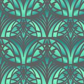 Green Art Deco Pattern
