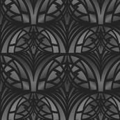 Dark Gray Art Deco Pattern