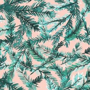 fir twigs watercolor