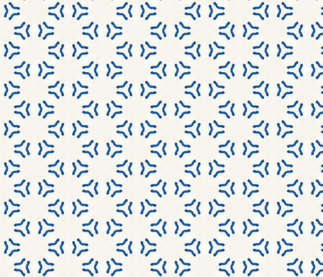 Acrylic Blue Triangular Circles fabric by heatherdoucette on Spoonflower - custom fabric