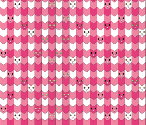 catgingham1inch fabric by et_al on Spoonflower - custom fabric