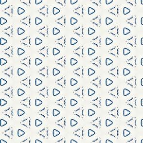 Acrylic Blue Triangles