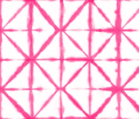 Shirbori 18 Bright Pink fabric by theplayfulcrow on Spoonflower - custom fabric