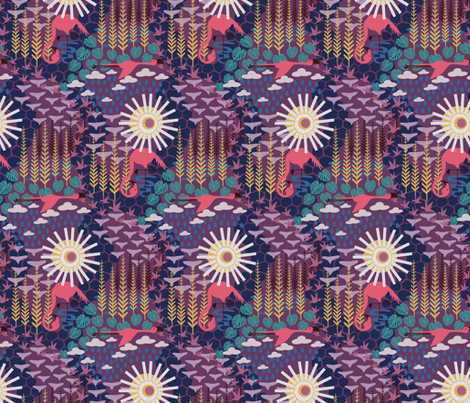 Tropical Harvest fabric by dearchickie on Spoonflower - custom fabric