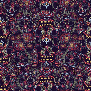 Candy_Skull_Floral