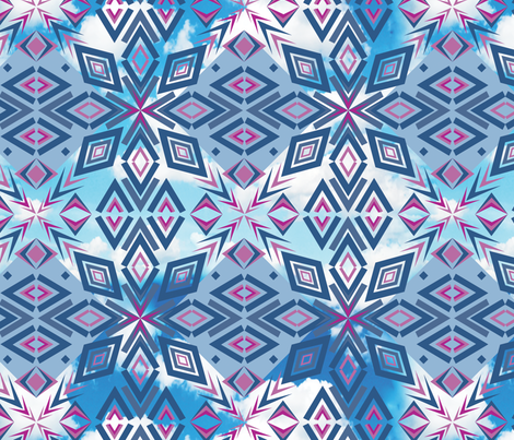 Chevron_Clouds fabric by bbsforbabies on Spoonflower - custom fabric