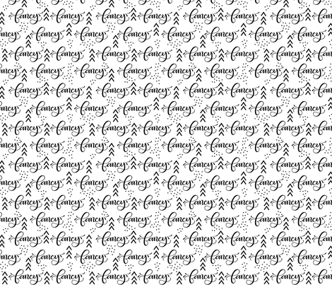 Fancy // Black and white fabric by howjoyful on Spoonflower - custom fabric